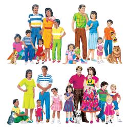 Little Folk Visuals Multicultural Families Flannel Board Set, Multicolor, Grades Pre-K - 5