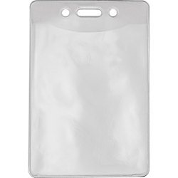 """Advantus Government/Military ID Holders - Support 2.88"""" x 3.88"""" Media - Vertical - Vinyl - 50 / Pack - Clear"""