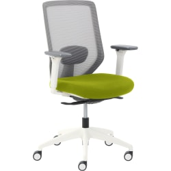 True Commercial Phoenix Mesh/Fabric Mid-Back Task Chair, Green/Off-White