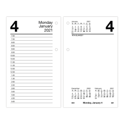 "AT-A-GLANCE® Loose-Leaf Daily Desk Calendar Refill With Monthly Tabs, 3-1/2"" x 6"", January To December 2021, E717T50"