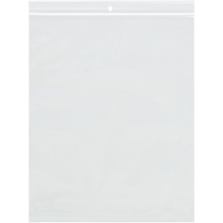 """Office Depot® Brand 2-Mil Reclosable Poly Bags with Hang Holes, 9"""" x 12"""", Case Of 1,000"""
