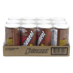 Nutrament Energy Nutrition Drinks, Chocolate, 12 Oz, Pack Of 12 Cans