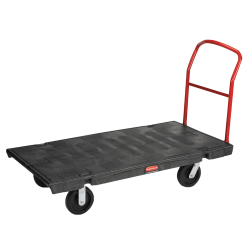 "Rubbermaid® Commercial Platform Truck, 2,000 Lb Capacity, 7""H x 30""W x 60""D, Black"