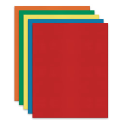 Office Depot® Brand 2-Pocket Textured Paper Folders With Prongs, Assorted Colors, Pack Of 25
