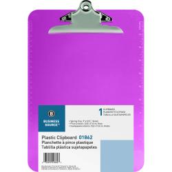 "Sparco Plastic Clipboard, 8 1/2"" x 12"", Violet"