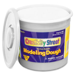 Creativity Street 3lb Tub Modeling Dough - Modeling - Recommended For - 1 Each - White