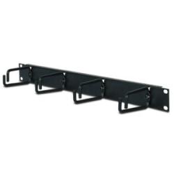 APC 1U Horizontal Cable Organizer - Black - 1U Rack Height