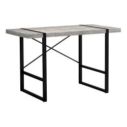 "Monarch Specialties Jared 49""W Computer Desk, Gray Reclaimed Wood/Black"