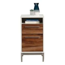 "Sauder® Vista Key 19""D Vertical 2-Drawer File Cabinet, Pearl Oak/Blaze Acacia"