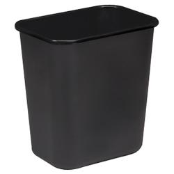 """Sparco Rectangular Wastebasket, 7 Gallons, 15"""" x 14 1/2"""", Black"""