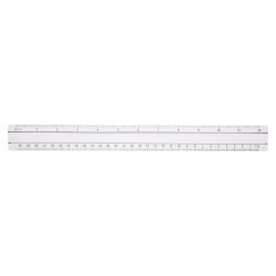 Acme Magnifying Ruler, Clear, 12""