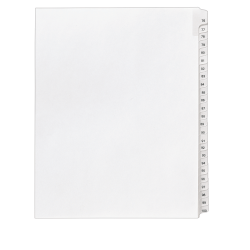 "Avery® Allstate®-Style 30% Recycled Collated Legal Exhibit Dividers, 8 1/2"" x 11"", White Dividers/White Tabs, 76–100, Pack Of 25 Tabs"