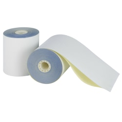 """Office Depot® Brand 2-Ply Paper Rolls, 3 1/4"""" x 96', Canary/White, Carton Of 60"""