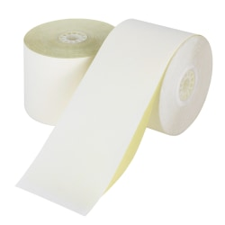 """Office Depot® Brand 2-Ply Paper Rolls, 2 1/4"""" x 100', Canary/White, Carton Of 50"""
