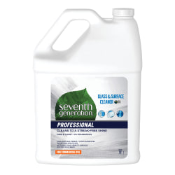 Seventh Generation™ Professional Free And Clear Glass And Surface Cleaner, 1 Gallon, Carton Of 2 Bottles