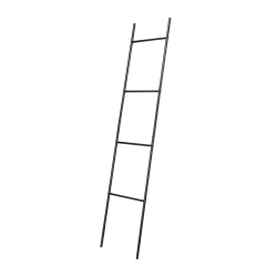 "Honey Can Do Leaning Ladder Rack, 4 Rungs, 69-1/8""H x 15""W, Black"