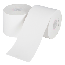 "Office Depot® Brand Single-Ply Paper Rolls, 2 1/4"" x 124', White, Carton Of 100"