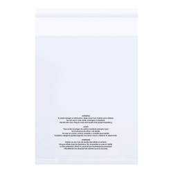Office industrial supplies CLEAR 1.5 Mil Resealable Suffocation Warning Bags