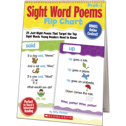 Scholastic Sight Word Poems Flip Chart - Theme/Subject: Learning, Fun - Skill Learning: Reading, Word Recognition