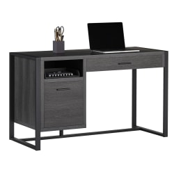 "Realspace® DeJori 51""W Writing Desk, Charcoal"
