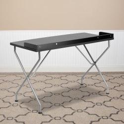 "Flash Furniture 48""W Computer Desk With Raised Border, Black"