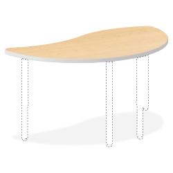 """HON® Build Series Wisp-Shape Table Top, 1 1/8""""H x 54""""W x 30""""D, Maple"""