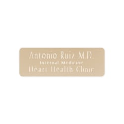 """Custom Engraved Brass Trophy And Award ID Plates, Round Corners, 1"""" x 3"""""""