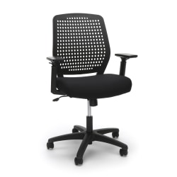 OFM Essentials Plastic Mid-Back Task Chair, Black