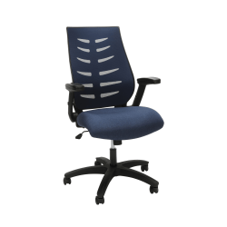 OFM Core Collection Model 530 Mesh Mid-Back Office Chair, Blue/Black