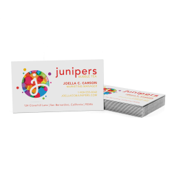 Custom Full-Color Luxury Heavy Weight Color Core Business Cards, Black Core, Square Corners, 1-Side, Box Of 50