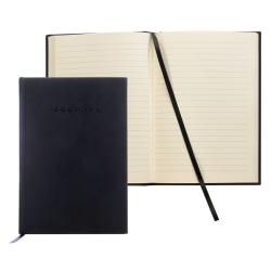 "FORAY® Hardcover Journal, 5 1/2"" x 8"", Black"