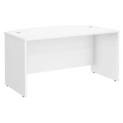 "Bush Business Furniture Studio C Bow Front Desk, 60""W x 36""D , White, Standard Delivery"