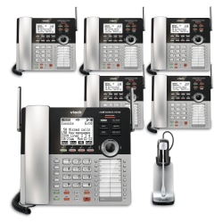 VTech® CM18445 4-Line Small Business Office Phone System, 5-In-1 Bundle