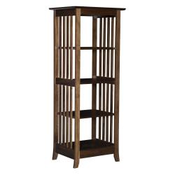 Linon Home Decor Products Emeric Single 4-Shelf Home Office Bookcase, Cappuccino
