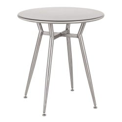 """LumiSource Clara Industrial Dinette Table, 30-1/4""""H x 27-3/4""""W x 27-3/4""""D, Silver"""