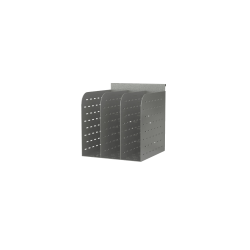 """Mayline® Even™ File Holder, 6 3/8""""H x 6 7/16""""W x 6 1/2""""D, Silver"""