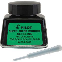 Pilot® Super Color Marker Refill Ink, Fine Point, 0.7 mm, 1 Fl Oz, Black