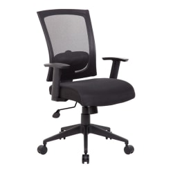 Boss Office Products Mesh-Back Task Chair, Black