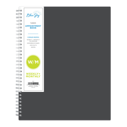 """Blue Sky™ Weekly/Monthly Appointment Book, 8-1/2"""" x 11"""", Passages, January to December 2021, 100009"""