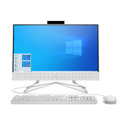 "HP 22-dd0016 All-in-One Desktop PC, 21.5"" Screen, AMD Athlon™ Silver, 4GB Memory, 1TB Hard Drive, Windows® 10"