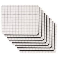 "Kleenslate® Rectangular Paddle Replacement Surfaces, 8"" x 10"", Graph, Pack Of 8"