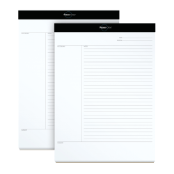 """TOPS™ FocusNotes™ 15-lb Legal Pad, 8 1/2"""" x 11"""", White, Pack Of 2"""