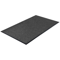Genuine Joe Silver Series Walk-Off Indoor Mat, 3' x 5', Charcoal