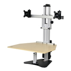 "Ergo Desktop Electric Kangaroo Elite Stand, 27 1/2""H x 28""W x 28""D, Maple, Standard Delivery"