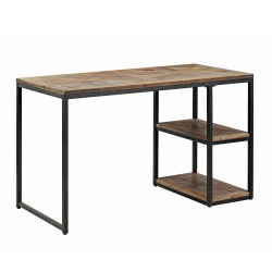 "Southern Enterprises Garviston 2-Shelf 50""W Desk, Rustic Black/Distressed Fir"