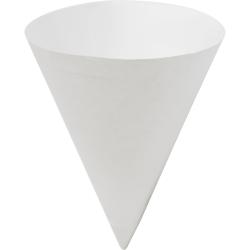 Konie Paper Cone Cups, 7 Oz, White, Carton Of 5,000 Cups