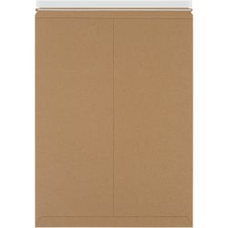 """Office Depot® Brand 18"""" x 24"""" Self-Seal Stayflats Plus Mailers, Kraft, Case Of 50 Mailers"""