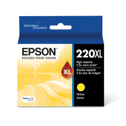Epson® DuraBrite® T220XL420-S High-Yield Yellow Ink Cartridge