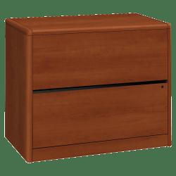 "HON® 10700 36""W Lateral 2-Drawer File Cabinet, Metal, Cognac"