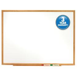 """Quartet® Classic Total Erase® Dry-Erase Board, 24"""" x 36"""", Oak Frame"""